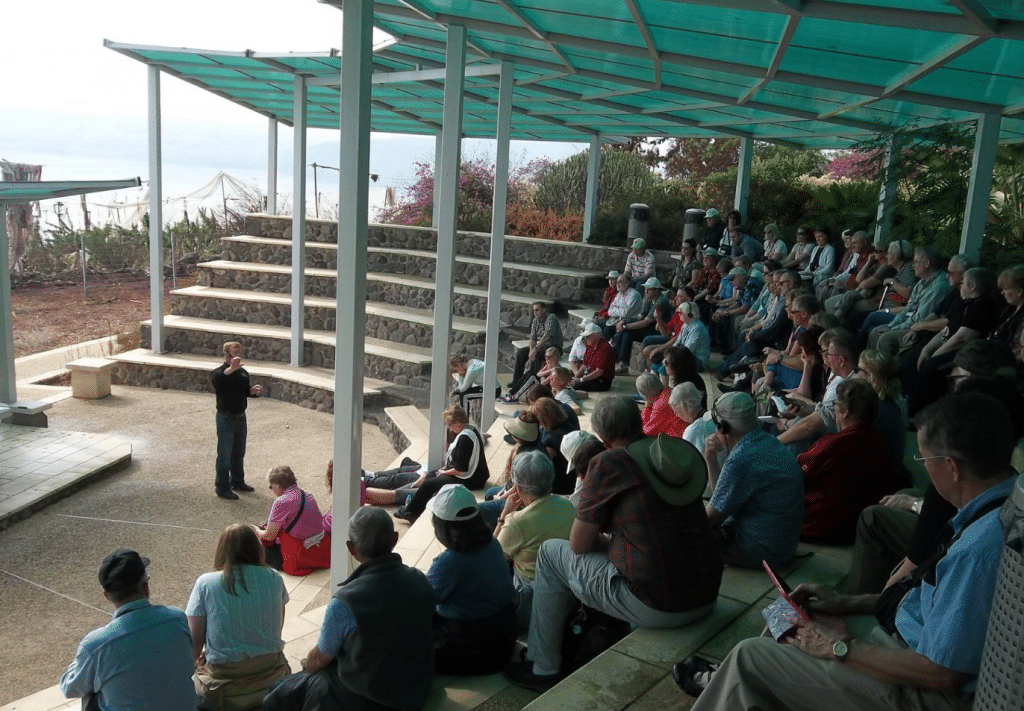 Glenn Teaching Mount of Beatitudes by Sea of Galilee