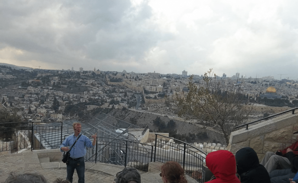 Glenn Teaching at Mount of Olives