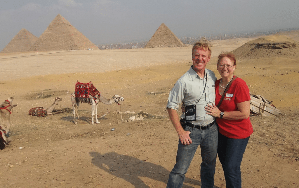 Glenn and Debbie at Pyramids