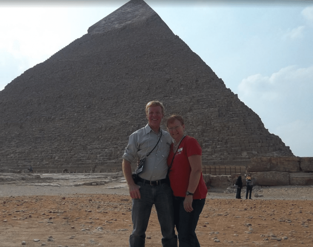 Glenn at the Pyramids of Egypt